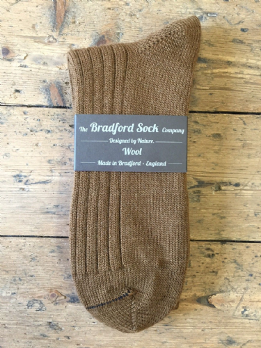 Brown - Wool Socks - Hand or Silk Wash.
